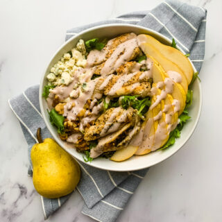 Chicken Pear And Blue Cheese Salad