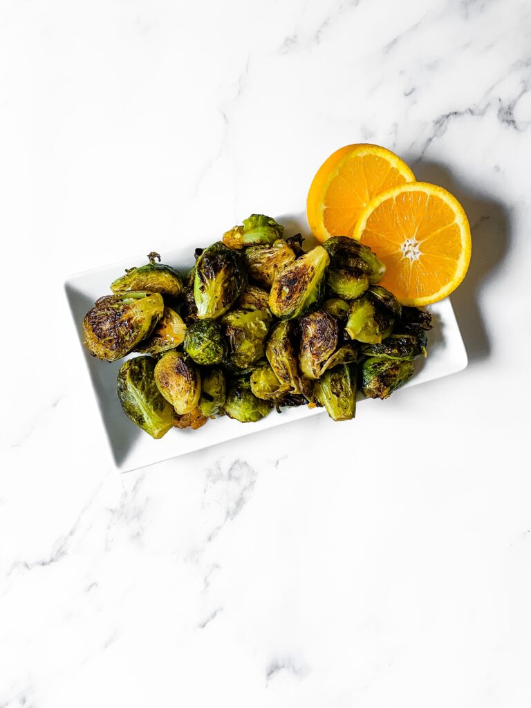 Citrus Glazed Brussels Sprouts