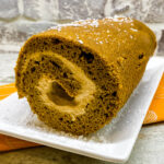 Pumpkin Roll With Pumpkin Spice Cream Cheese Filling