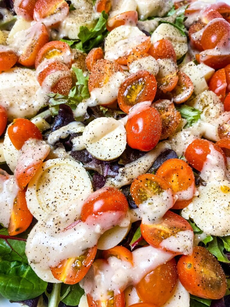 Tomato, Onion, And Hearts Of Palm Salad