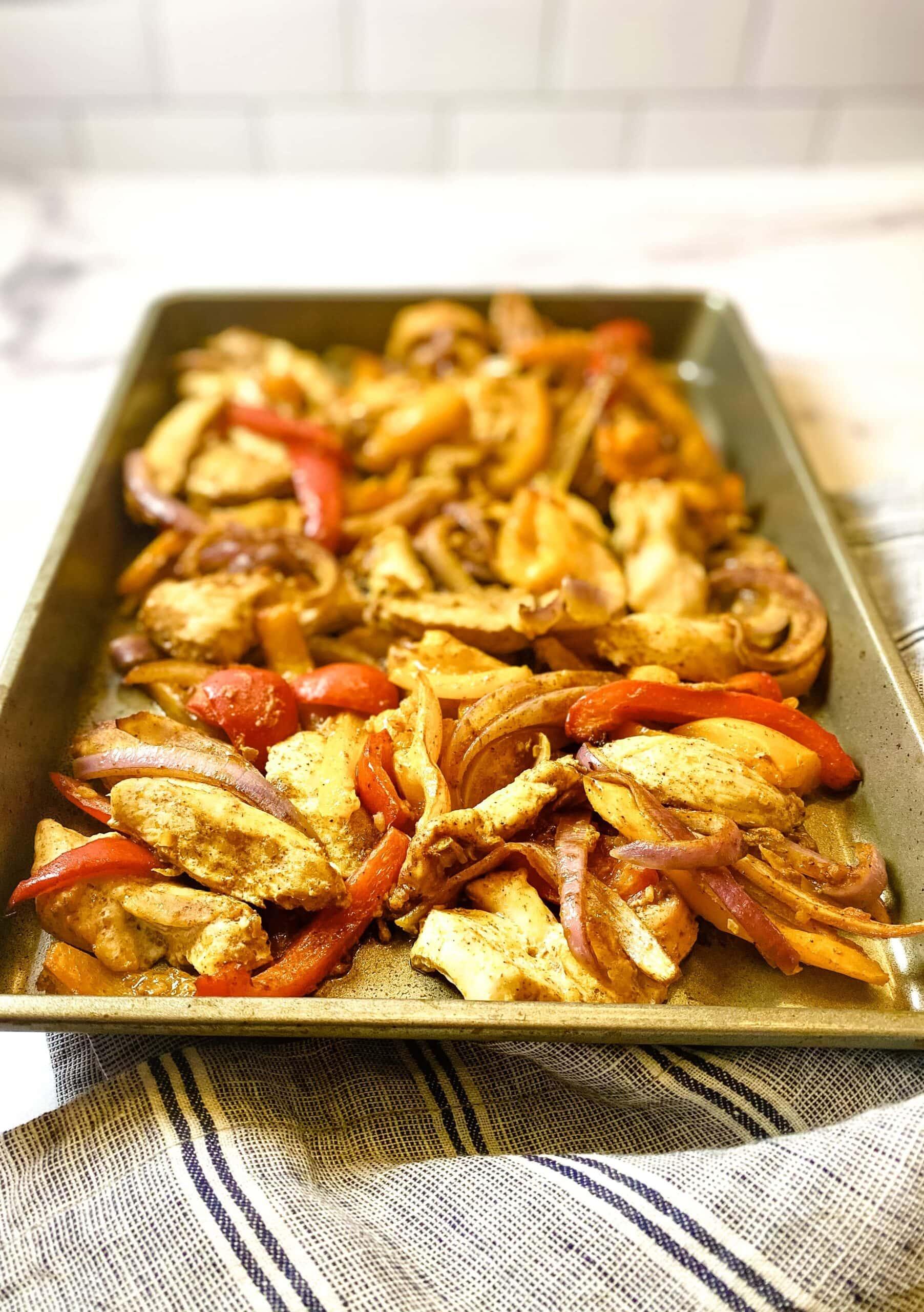 Easy 30-Minute Sheet Pan Chicken Fajitas