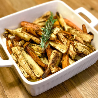 Oven Roasted Carrots And Parsnips