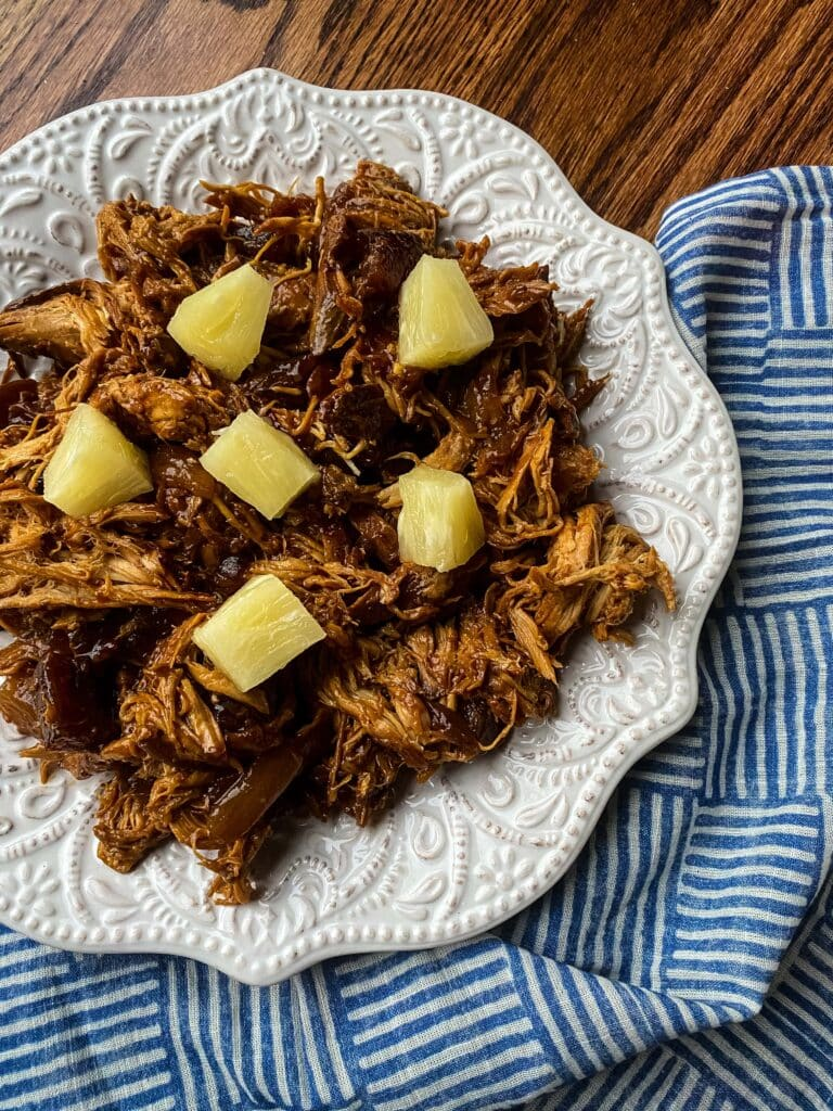 Slow Cooker Hawaiian Barbecue Chicken
