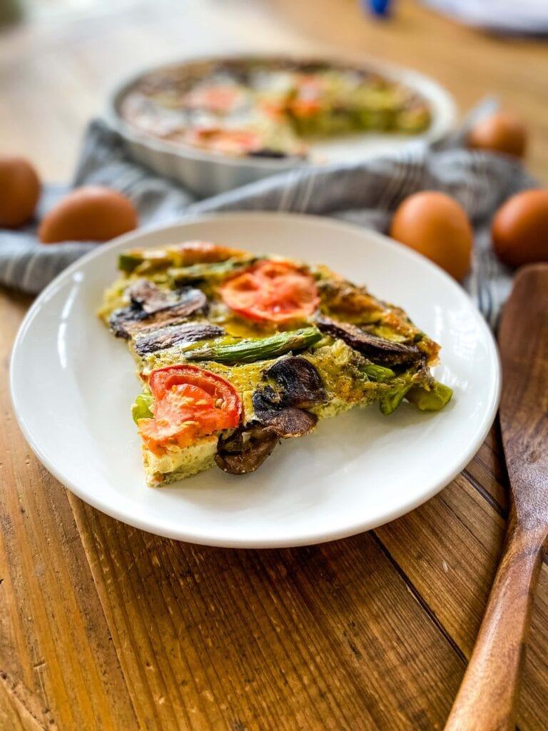 Mushroom Asparagus And Tomato Frittata