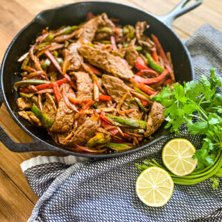 One Pan Steak Fajitas