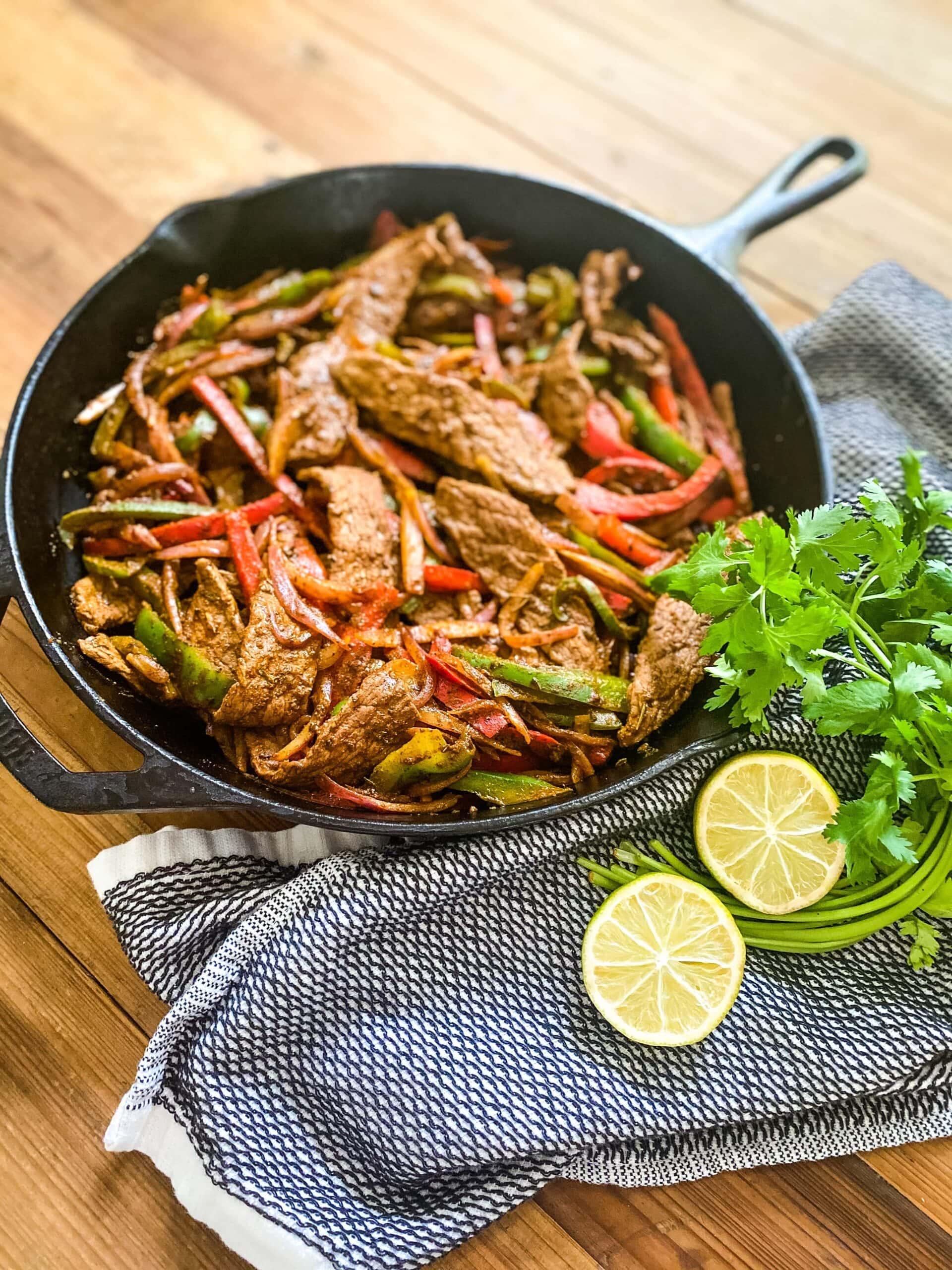 One Pan Steak Fajitas: Easy 25-Minute Meal!