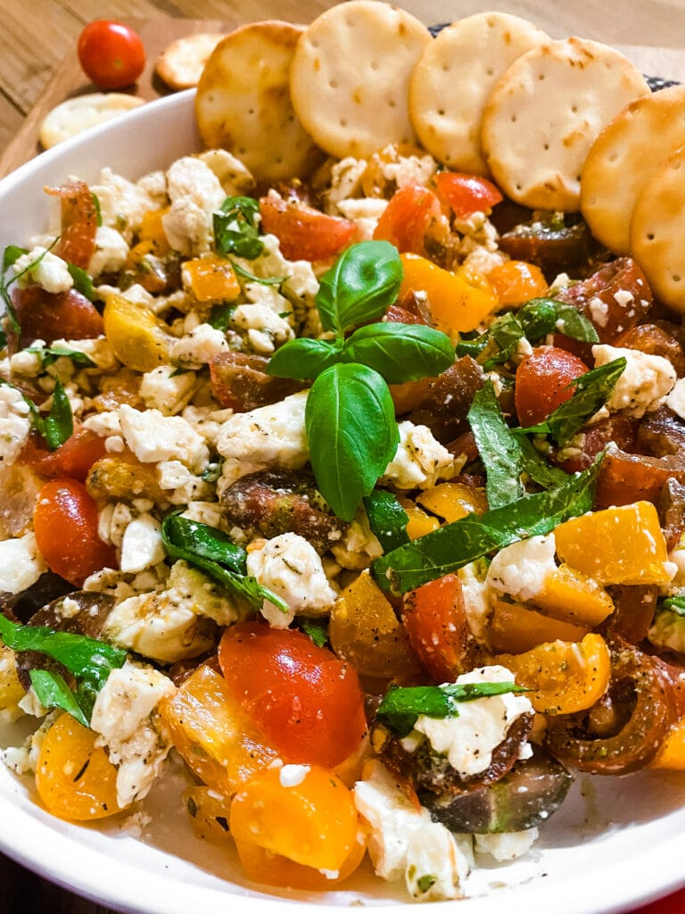 Bruschetta Dip With Feta - Cooking With Fudge