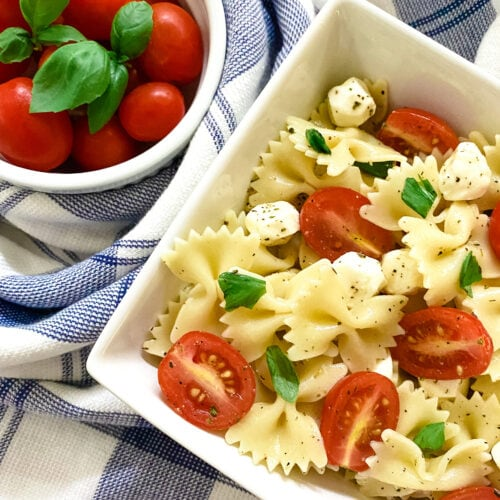 Caprese Pasta Salad - Cooking With Fudge
