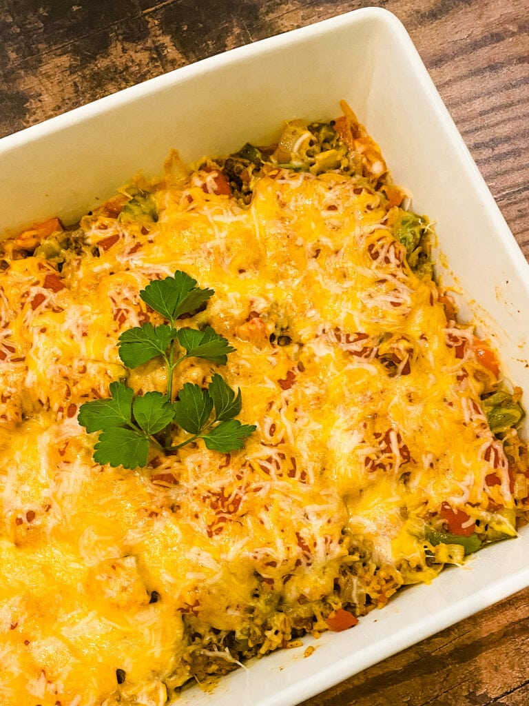 Stuffed Pepper Bake - Cooking With Fudge